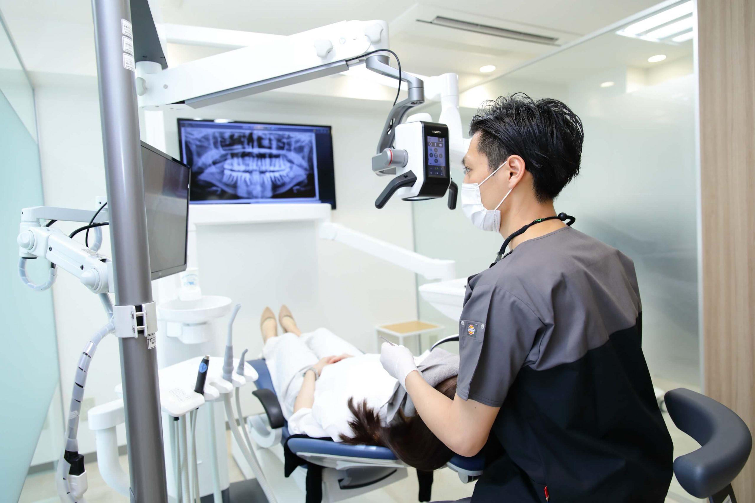 進行したむし歯治療